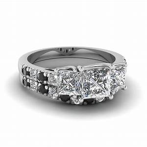 stunning black diamond wedding ring sets fascinating With wedding ring with black diamond accents