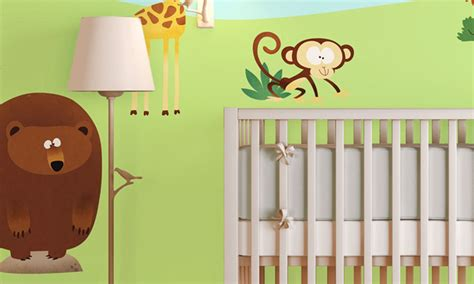 chambre zoo chambre bébé au zoo leostickers