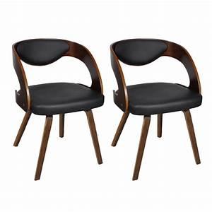 Chaise De Cuisine Design : 2 chaises de cuisine salon salle manger design noir bois helloshop26 1902044 conforama ~ Teatrodelosmanantiales.com Idées de Décoration