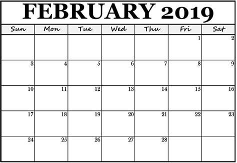 blank february editable calendar template calendar