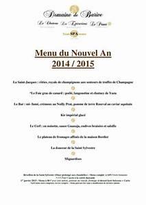 Calamo Menu Du Nouvel An 2014 2015