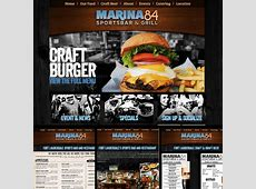 Marina 84 Sports a New Restaurant Web Design — Webdiner