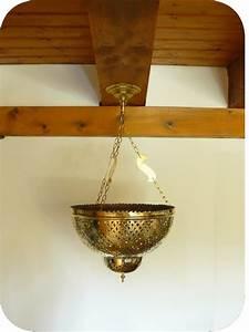 Lustre En Cuivre : luminaires marocains lustre suspension marocain en cuivre jaune riad 40 cm ~ Teatrodelosmanantiales.com Idées de Décoration