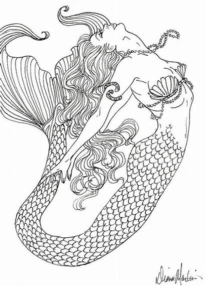 Mermaid Coloring Pages Realistic