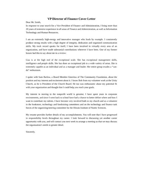 cover letter  finance director position birthdayessay