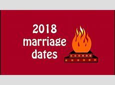 2018 muhurat dates, 2018 marriage dates, Auspicious dates