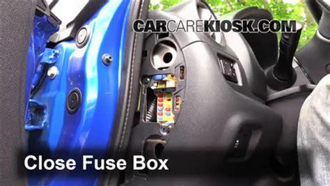 interior fuse box location   nissan versa note  nissan versa note    cyl
