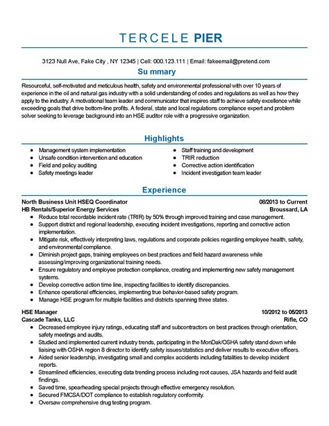 Building Porter Resume by Professional Safety And Environmental Professional