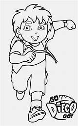 Coloring Pages Diego Go Printable sketch template