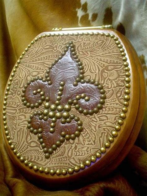 Gorgeous New Orleans Style ?fleur De Lis? Floral Leather