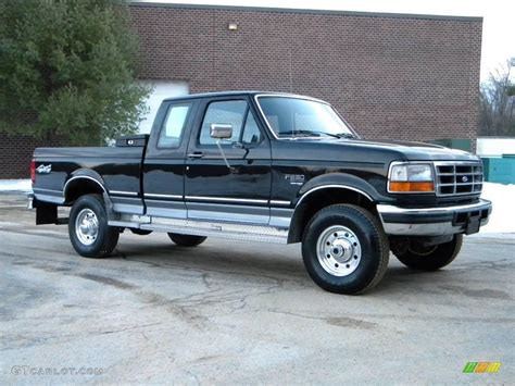 Black 1997 Ford F250 XLT Extended Cab 4x4 Exterior Photo