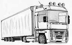 2020 other images semi truck trailer coloring pages - Semi Truck Trailer Coloring Pages
