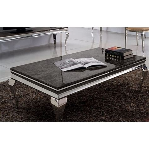 dessus de canape table basse baroque duchesse en marbre et inox pop design fr