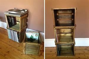 Meuble Platine Vinyle Vintage : 36 meubles pour ranger des vinyles vinyles ranger et caisson en bois ~ Teatrodelosmanantiales.com Idées de Décoration