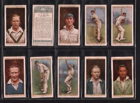 cigarette cards cricketers  set    wills