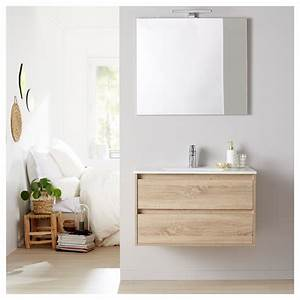 Miroir Meuble Salle De Bain : meuble de salle de bain miroir eclairage 80 cm siris cambrian ~ Teatrodelosmanantiales.com Idées de Décoration