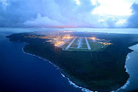 Aerial View Anderson Afb Ritidian Point Guam