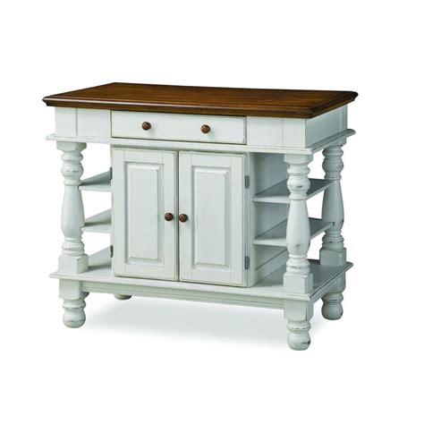 Kitchen Island Home Styles by Home Styles Americana White Kitchen Island With Storage