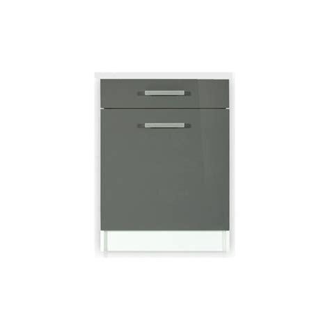 meuble bas cuisine 1 porte meuble de cuisine bas 1 porte 60 cm tara laqué 1 étagère 1