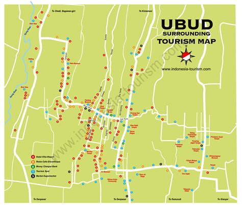 ubud map  bali maps pinterest