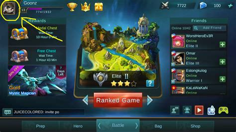 profil mobile legend mobile legends tips and tricks how to change moblie