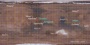 Map of all Mars landing sites, failed and successful | The ...