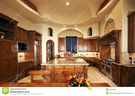 Countertop Shelf Bathroom by Huge New Mansion Home Kitchen Stock Photo Image 10015840