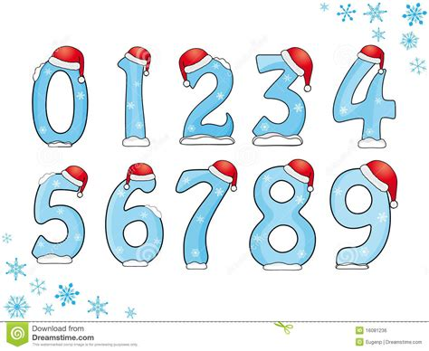 Set Of Christmas Numbers Stock Vector Illustration Of Numbers 16081236