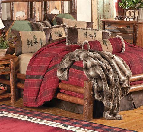rustic bedding king size highlands cabin bed setblack