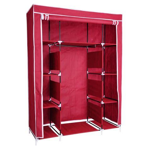 Cloth Wardrobe Closet by 50 Quot Portable Wardrobe Organizer Clothes Closet Rack