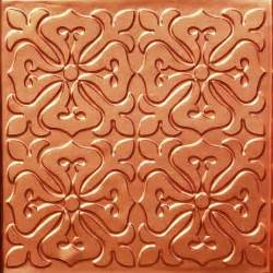 101 faux tin ceiling tile glue up 24x24 copper ceiling tile by decorative ceiling tiles inc