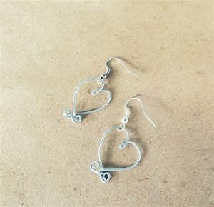 Wobisobi  Heart  Wire Earrings Diy