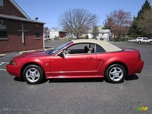 Laser Red Metallic 2002 Ford Mustang V6 Convertible Exterior Photo #63002538 | GTCarLot.com