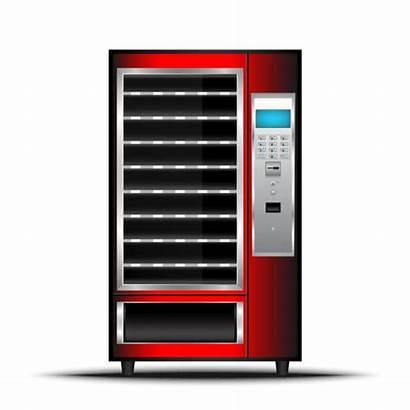 Vending Machine Vector Automatic Illustration Selling Empty