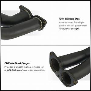 Black Stainless Steel Exhaust Header Manifold For 2001