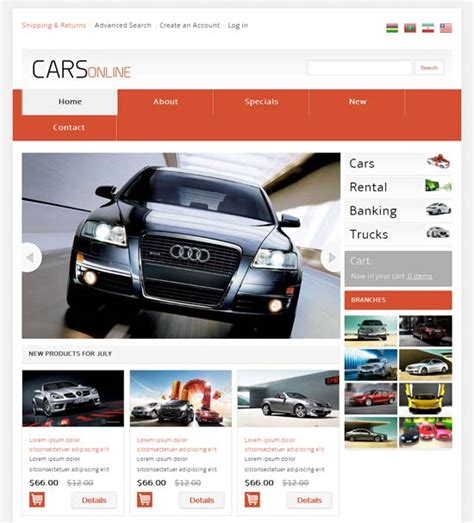 Automobile Website Design by 46 Best Ecommerce Website Templates Free Premium