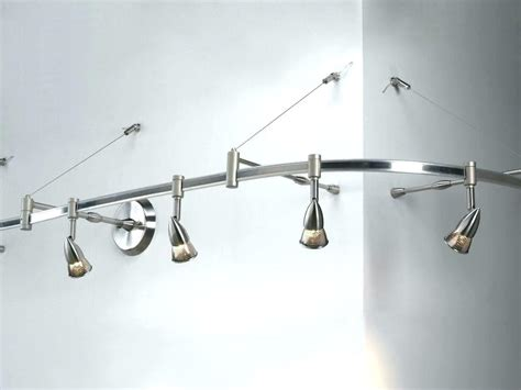brushed nickel  light track lighting ceiling  wall