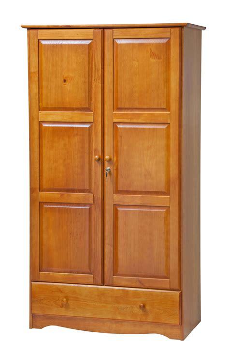 Locking Closet by Palace Imports Solid Wood Locking Universal Wardrobe