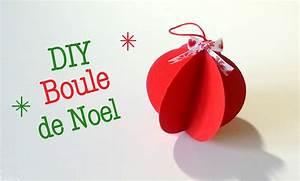 Boule De Noel A Fabriquer : diy boule de noel en papier youtube ~ Nature-et-papiers.com Idées de Décoration
