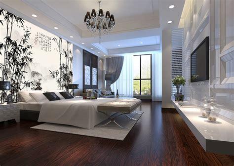 idee tapisserie chambre papier peint paysage chinois les bambous etle poème