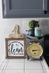 Make Yourself At Home : make yourself at home clean my kitchen funny hand painted wooden sign 8 x 8 kitchen ~ Eleganceandgraceweddings.com Haus und Dekorationen