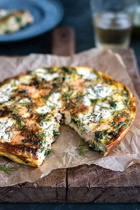 cottage cheese frittata cottage cheese kale and smoked salmon frittata