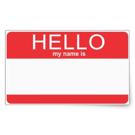 hello my name is template custom template hello my name is rectangular sticker zazzle