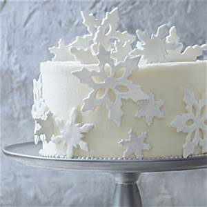Cake Decorating Ideas Fondant Snowflakes Southern Living