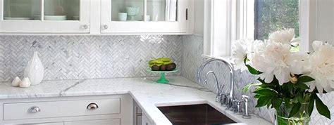 Herringbone Carrara Backsplash : Marble Mosaic Tile Backsplash