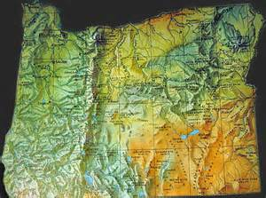 Oregon Geography Map