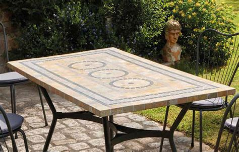 table chaises jardin table de jardin mosaique en 4 ou 6 chaises