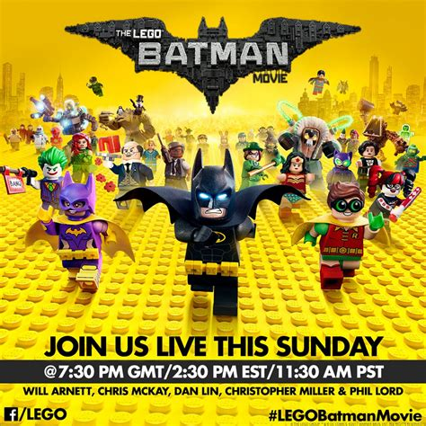 Lego Batman Cast The Lego Batman Movie Cast And Crew Live Chat 22nd January