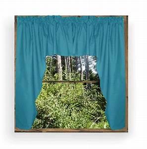 dark turquoise swag window valance set With dark turquoise curtains