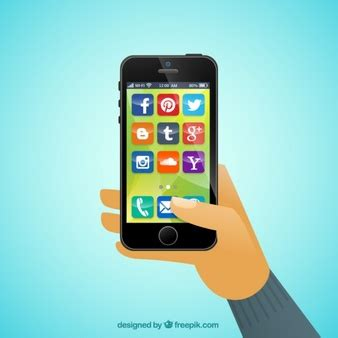 cell phone app mobile phone icon set vector free